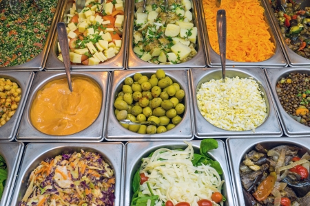 Salad bar with a lot of choice Stock Photo - 25284068