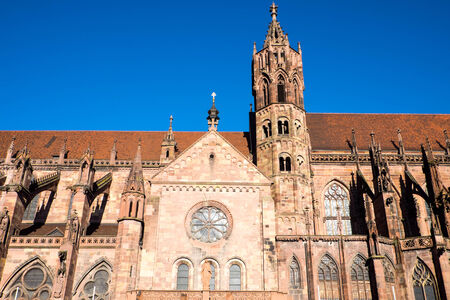 freiburg: Detail of the Freiburg minster