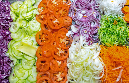 self starter: Colourful salad buffet Stock Photo