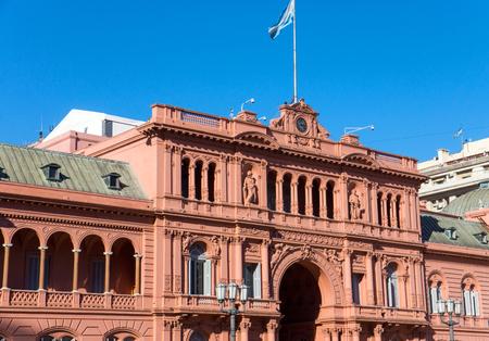 evita: Detail of the Casa Rosada in Buenos Aires