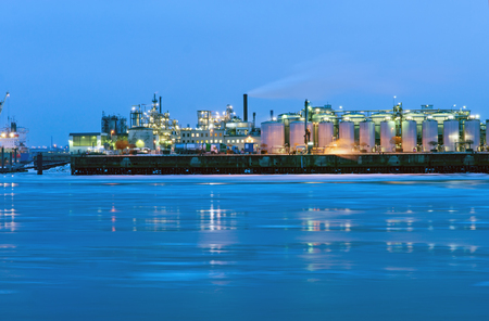 Industry at the river Elbe in Hamburg photo