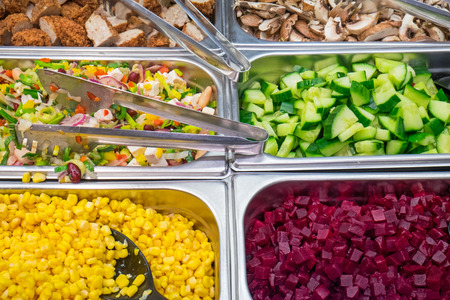Salad ingredients at a buffet photo