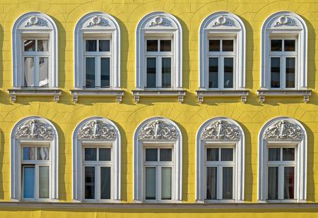 property berlin: Facade of a restored building Stock Photo