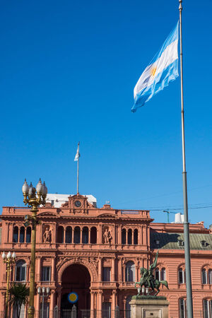 Casa Rosada and an argentinean flag photo