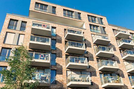 gentrification: New apartment house in Hamburg Editorial