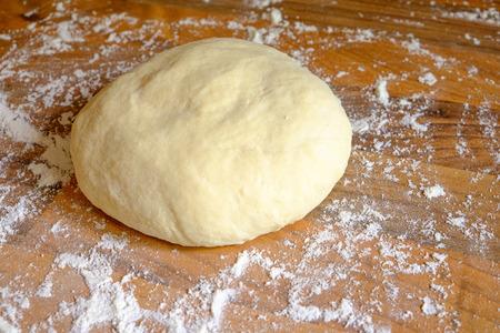 Ball of homemade pizza dough Imagens - 28300694