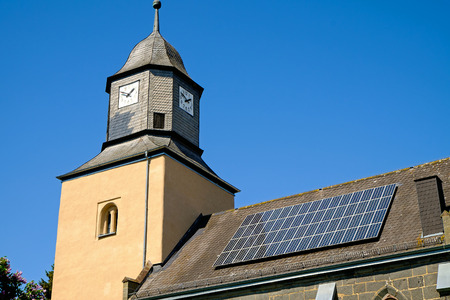Church with solar panels photo