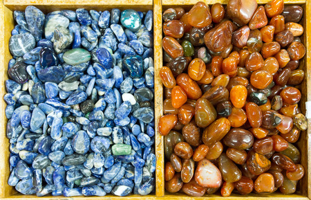 Background of semiprecious stones photo