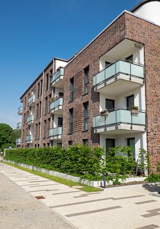 gentrification: Modern block of flats