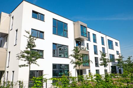 property berlin: Modern white apartment house