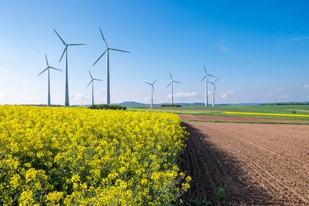 Rural landscape with windwheels photo