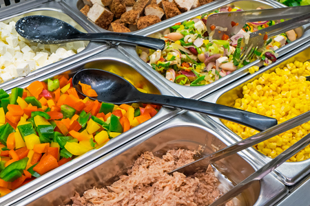 Salad variety at a buffet photo