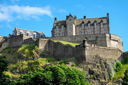 The Edinburgh castle on a sunny day Editorial