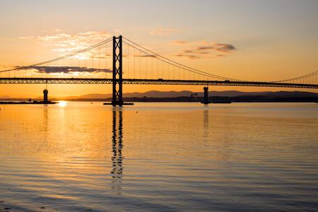 The Forth road bridge at dawn photo