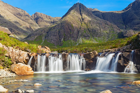 The beautiful Fairy Pools on the Isle of Skye, Scotland