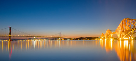 Two bridges over the Firth of Forth photo