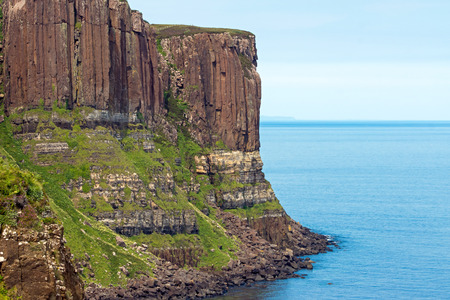 Kilt rock on the Isle of Skye Stock Photo