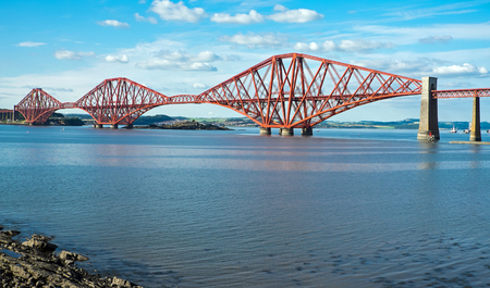 The red Forth railway bridge