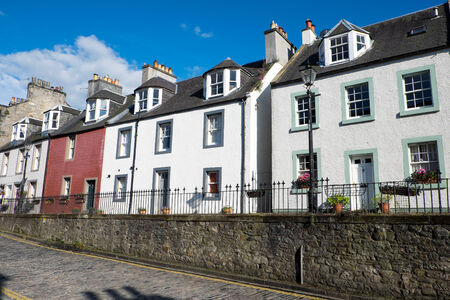 typically scottish: Typical houses in South Queensferry