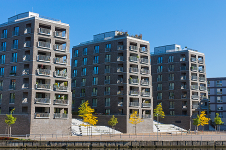 gentrification: Big residential buildings