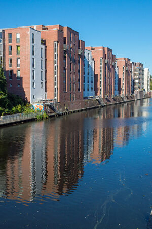 gentrification: Residential buildings at the water
