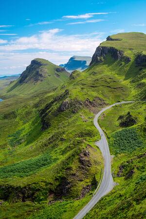 green road: The Quiraings, Isle of Skye Stock Photo