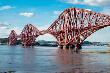 Forth railway bridge in Scotland photo