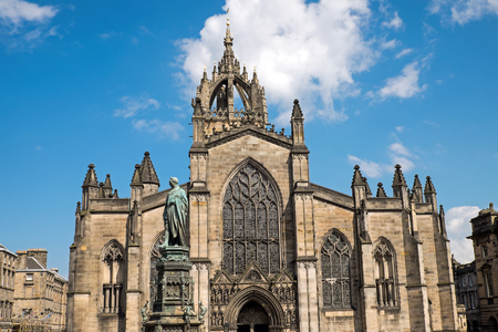 The St. Giles Cathedral in Edinburgh, Scotland Stock Photo