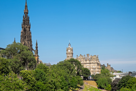 scott monument: Scott Monument and old building Editorial