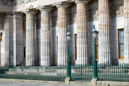 neoclassic: Pillars of the National Gallery of Scotland Editorial