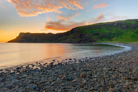 nger: Dawn at the Talisker Bay on the Isle of Skye, Scotland