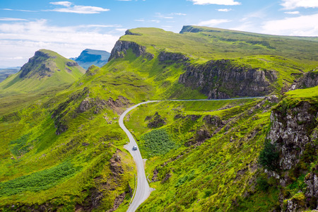 An amazing landscape on the Isle of Skye in Scotland photo