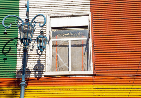 Detail of a window in la Boca, Buenos Aires photo