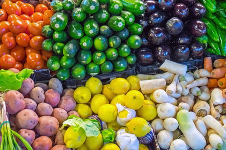 Vegetables at the Boqueria market in Barcelona photo