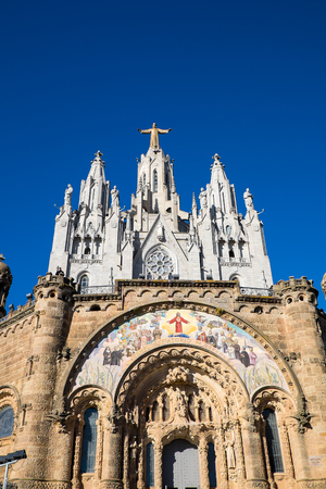 cor: Sagrat Cor church at Mount Tibidabo