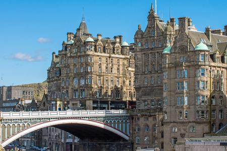 waverley: The North Bridge and historic buildings in Edinburgh Editorial