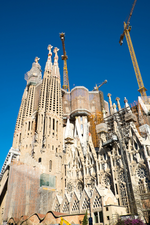 uncompleted: The still uncompleted Sagrada Familia in Barcelona