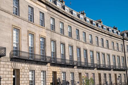 Typical victorian buildings seen in Edinburgh, Scotland