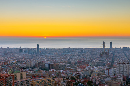 A beautiful sunrise seen in Barcelona, ??Spain ??