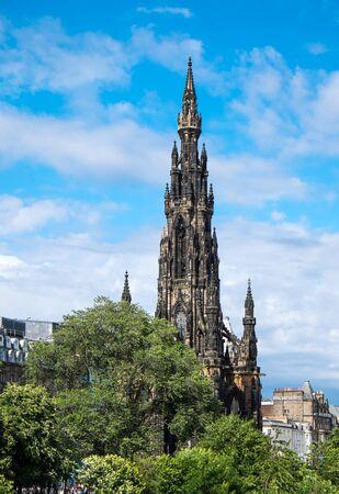 scott: The tower of the Scott Monument in Edinburgh, Scotland Editorial