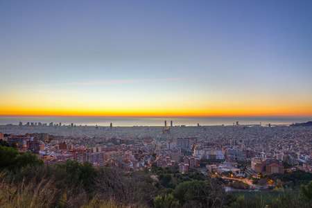 Early morning in Barcelona Stock Photo