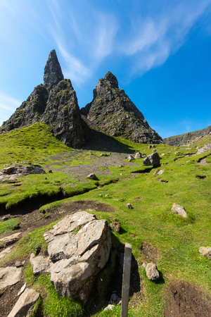 nger: The Old Man of Storr on the Isle of Skye in Scotland