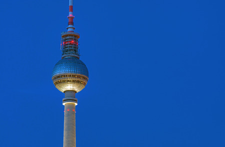 Detail of the TV tower in Berlin at night
