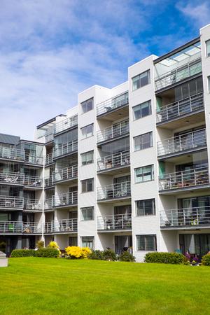 multifamily: Multi-family building seen in Reykjavik, Iceland