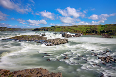 sputter: The Urriafoss Waterfall, the most powerful in Iceland