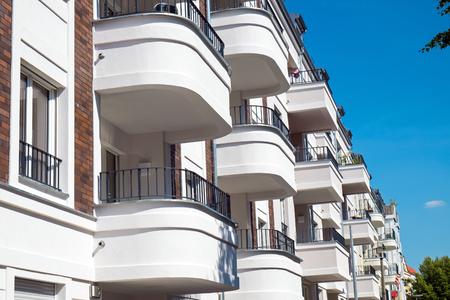 Balconies of a modern building seen in Berlin Reklamní fotografie