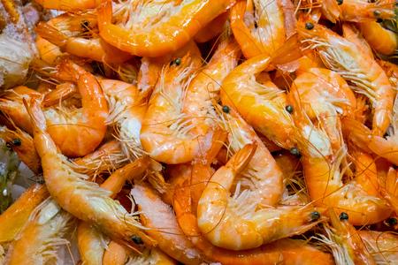 downloaded: Fresh red shrimps for sale at a market