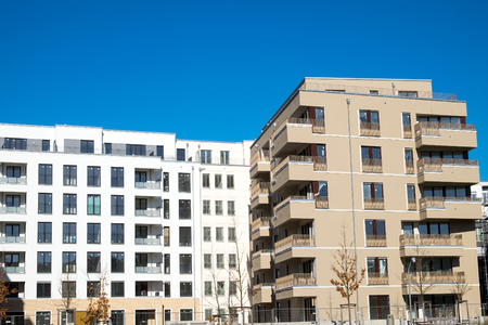 property berlin: New housing complex seen in Berlin, Germany Stock Photo