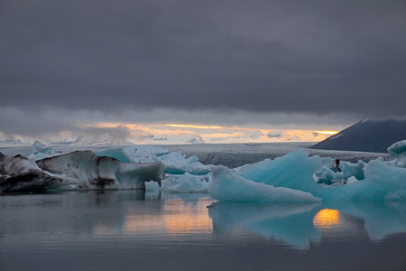The Jokulsarlon glacier lagoon in Iceland