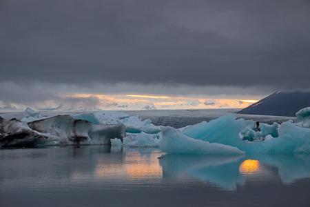 The Jokulsarlon glacier lagoon in Iceland